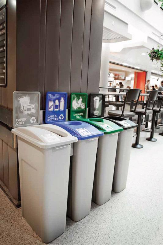 Stacja Red Line do segregacji śmieci w firmie