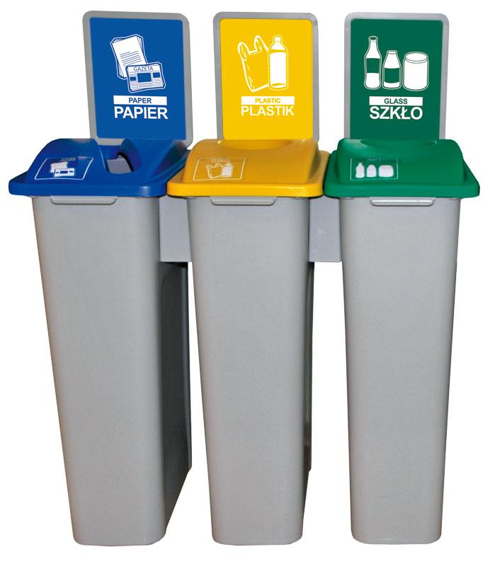 Stacja Red line - pojemniki do segregacji śmieci
