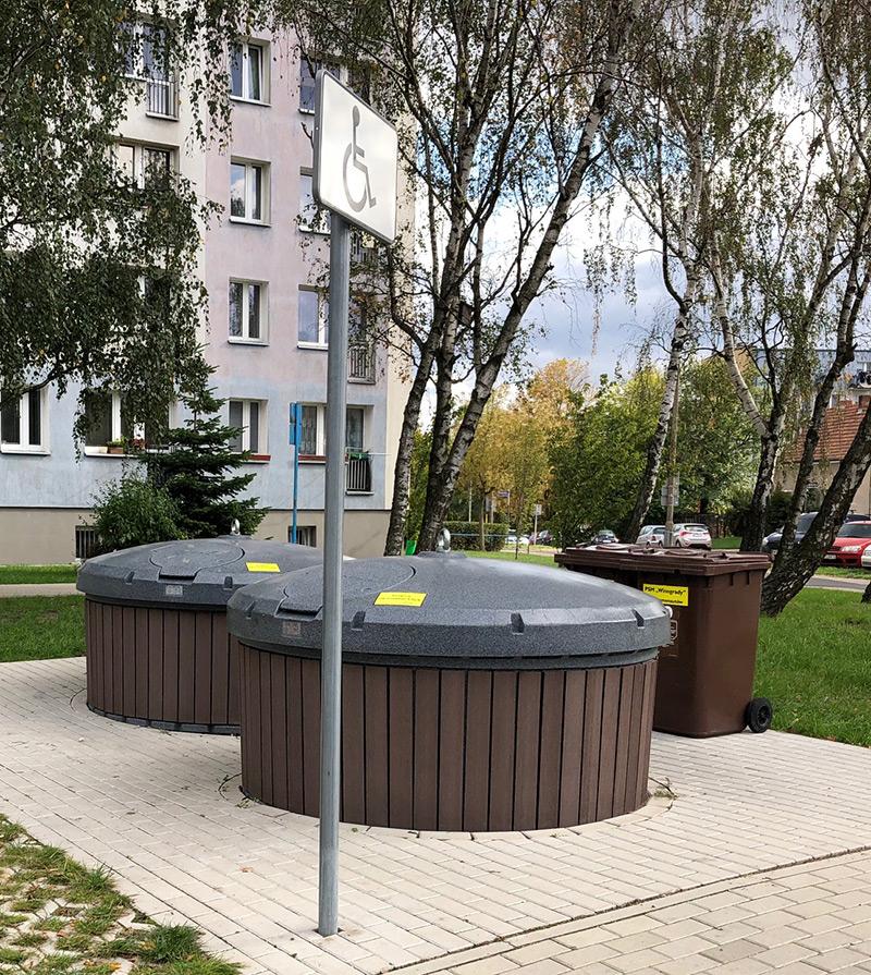 Realizacja gniazda śmietników półpodziemnych w Poznaniu