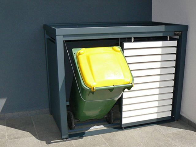 Atrakcyjne obudowy do pojemników na śmieci 120-240 l