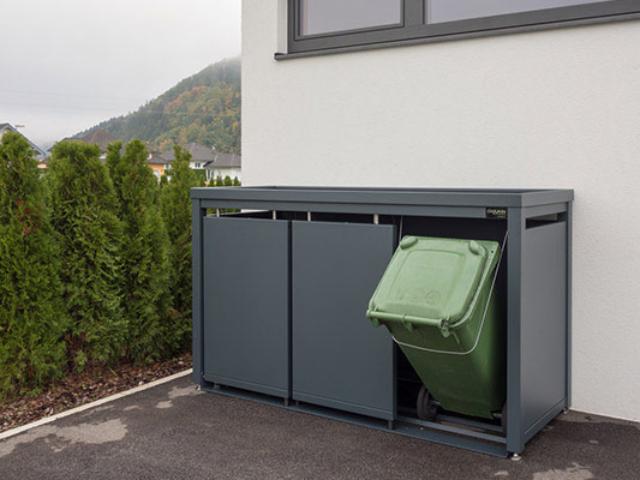 Znakomity sposób jak zakryć widok śmietników na posesji?