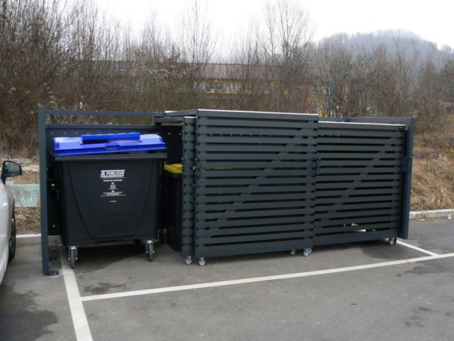 Ładne obudowy do pojemników na śmieci 600-1100 l