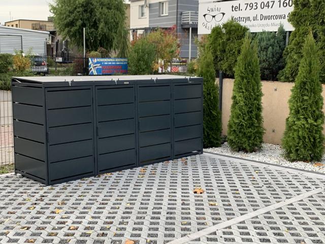 Obudowy do śmietników PPbin graphite (4x140 l)