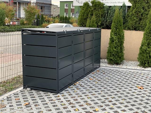 Obudowy do śmietników PPbin graphite (4x120 l)