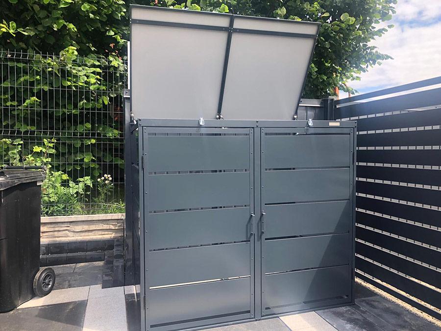 Obudowy do śmietników PPbin graphite (2x240 l)