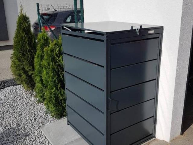 Obudowy do śmietników PPbin graphite (1x120 l)