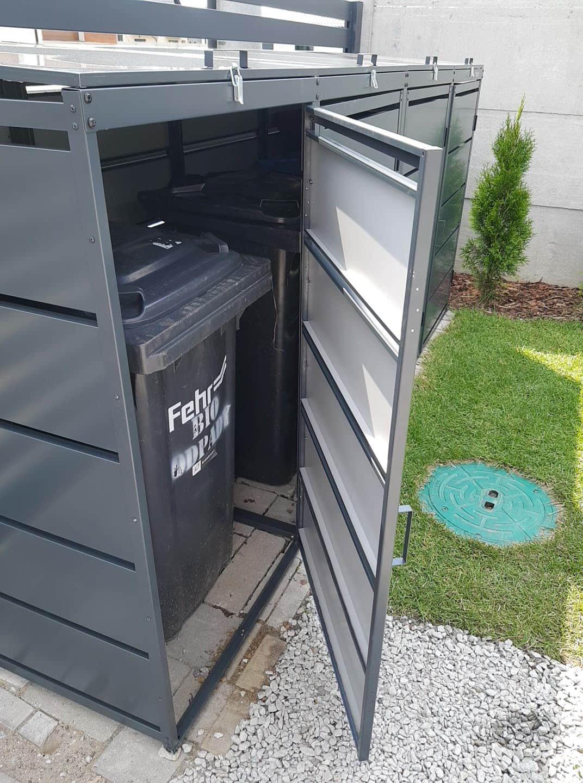 Obudowy do śmietników PPbin graphite (4x240 l)