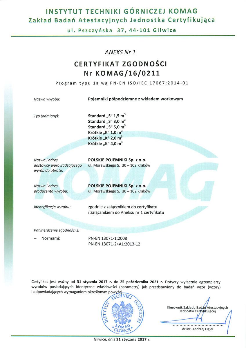 Certyfikat-KOMAG
