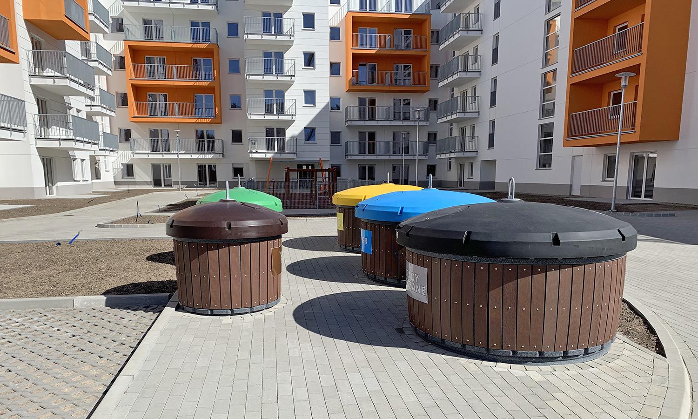 Semi-underground containers