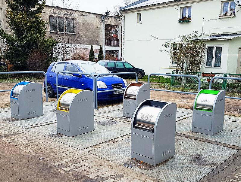 Śmietniki podziemne na odpady w Pruszczu Gdańskim