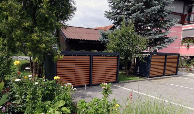 Estetyczne zabudowy do pojemników na śmieci 120-240 l