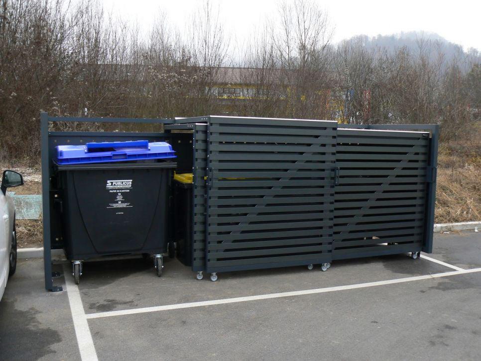 Ładne obudowy do pojemników na śmieci 660-1100 l