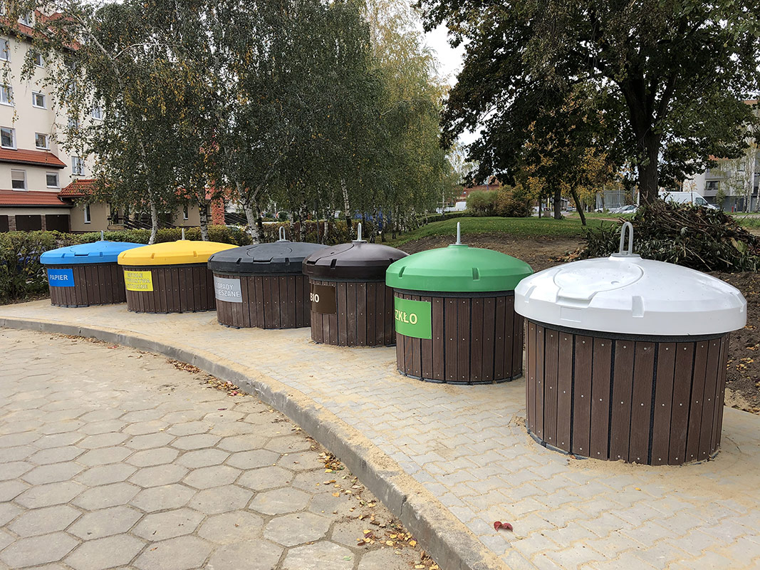 Nasze śmietniki półpodziemne w Lesznie