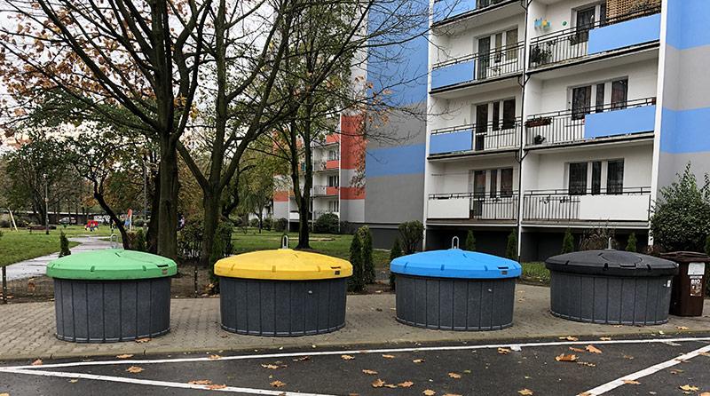 Nasze śmietniki półpodziemne w Poznaniu
